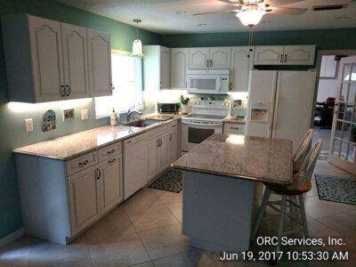 Restored and remodeled kitchen.