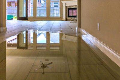 Water on floor!
